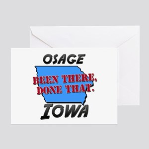 osage iowa - been there, done that Greeting Card