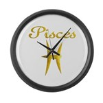 Pisces Large Wall Clock