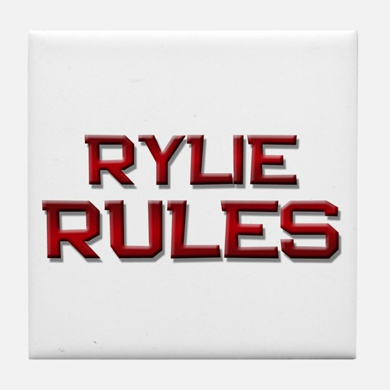 rylie rules Tile Coaster