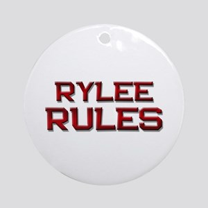 rylee rules Ornament (Round)