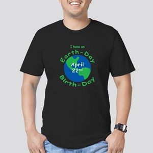 Earth Day Birthday Men's Fitted T-Shirt (dark)