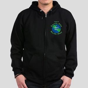 Earth Day Birthday Zip Hoodie (dark)