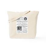 B&O Royal Blue LineTrains Tote Bag
