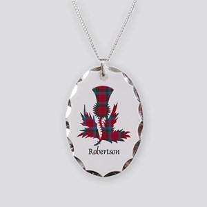 Thistle-Robertson Necklace Oval Charm