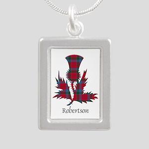 Thistle-Robertson Silver Portrait Necklace