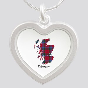 Map-Robertson Silver Heart Necklace