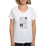 B&O Royal Blue LineTrains Women's V-Neck T-Shirt