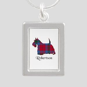Terrier-Robertson Silver Portrait Necklace