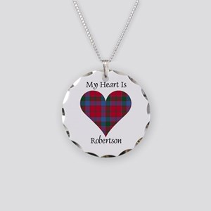 Heart-Robertson Necklace Circle Charm