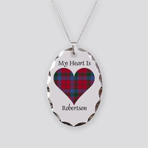 Heart-Robertson Necklace Oval Charm