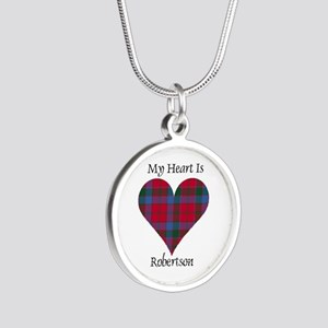 Heart-Robertson Silver Round Necklace
