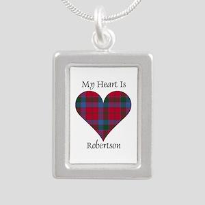 Heart-Robertson Silver Portrait Necklace