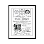 B&O Royal Blue LineTrains Framed Panel Print