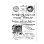 B&O Royal Blue LineTrains Postcards (Package of 8)