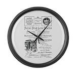 B&O Royal Blue LineTrains Large Wall Clock