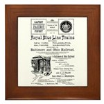 B&O Royal Blue LineTrains Framed Tile