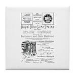 B&O Royal Blue LineTrains Tile Coaster