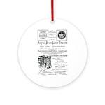 B&O Royal Blue LineTrains Ornament (Round)