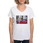 Seagle's Saloon Women's V-Neck T-Shirt