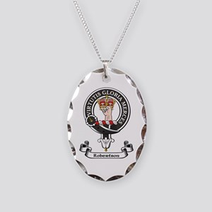 Badge-Robertson Necklace Oval Charm