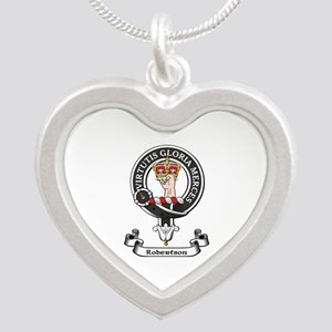 Badge-Robertson Silver Heart Necklace
