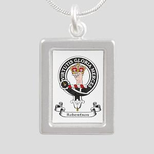Badge-Robertson Silver Portrait Necklace