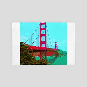 Golden_Gate_Bridge_2015_0422 4' x 6' Rug