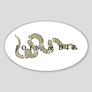 Join Or Die Oval Sticker