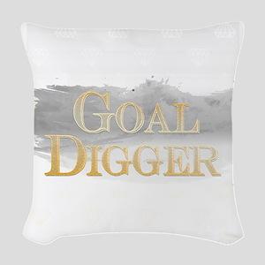 Goal Digger Inspirational Poster Woven Throw Pillo