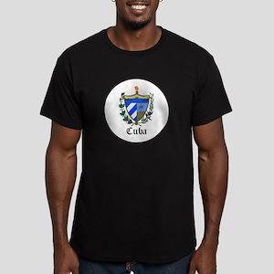 Cuban Coat of Arms Seal Men's Fitted T-Shirt (dark