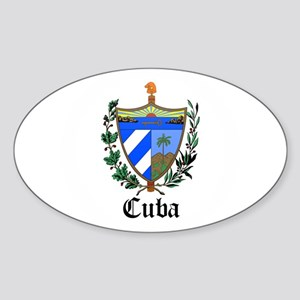 Cuban Coat of Arms Seal Oval Sticker