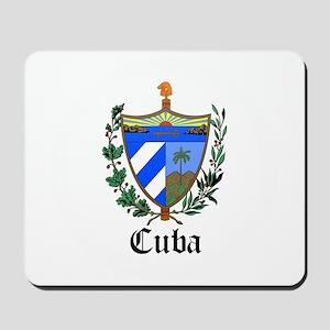 Cuban Coat of Arms Seal Mousepad