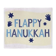 Flappy Hanukkah Throw Blanket