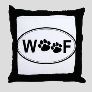 Woof Throw Pillow