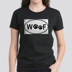 Woof (Front only) Women's Dark T-Shirt