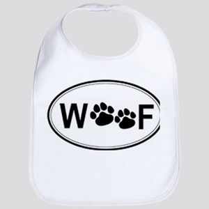 Woof (Front only) Bib