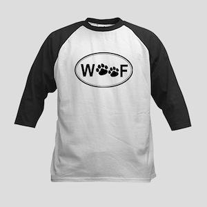 Woof (Front & back) Kids Baseball Jersey