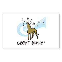 Greyt Music Rectangle Decal