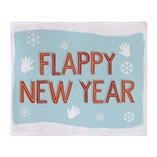 Flappy New Year Throw Blanket