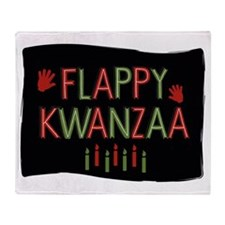 Flappy Kwanzaa Throw Blanket