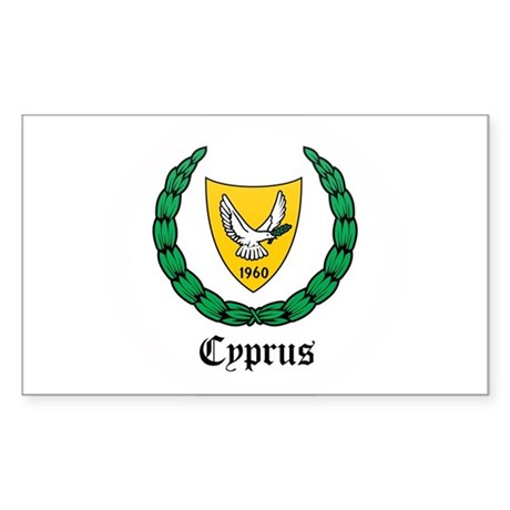 Cypriot Coat of Arms Seal Rectangle Sticker