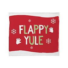Flappy Yule Throw Blanket