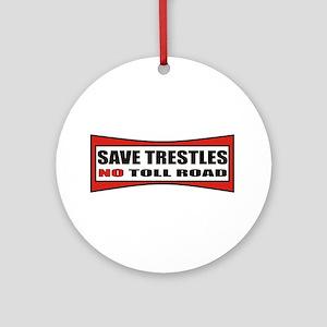 SAVE TRESTLES! Ornament (Round)