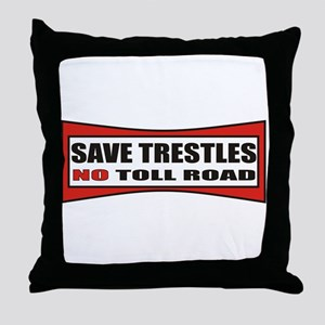 SAVE TRESTLES! Throw Pillow