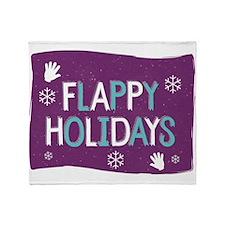 Flappy Holidays Throw Blanket