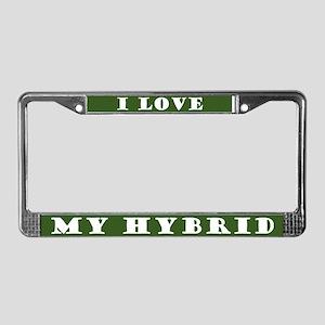 Green Life Hybrid Car License Plate Frame