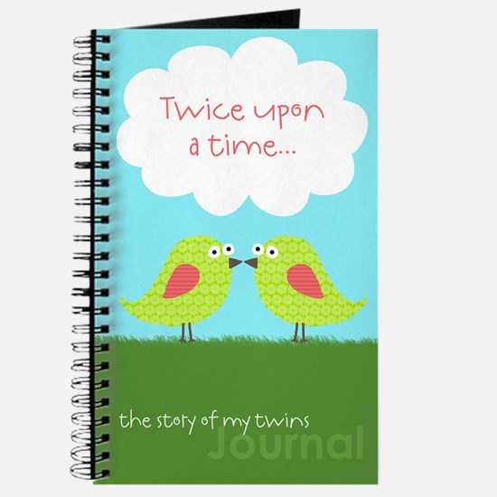 Twice Upon a Time Journal for Twin Girls