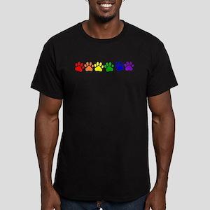 Rainbow Paws Men's Fitted T-Shirt (dark)