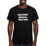 Against Animal Testing Men's Fitted T-Shirt (dark)