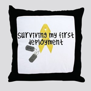 First Deployment (Army) Throw Pillow